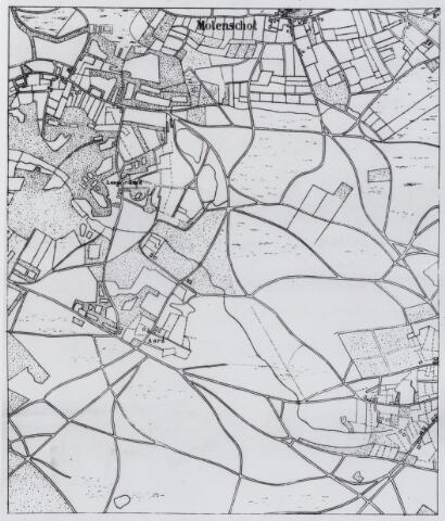 049210 - Kaart. Het gehucht Molenschot in de gemeente Gilze-Rijen.