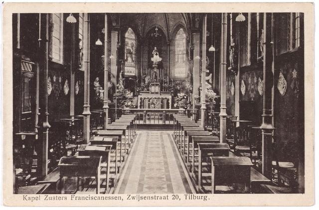 000057 - Interieur kapel zusters franciscanessen van de HH. Familie aan de Bisschop Zwijsenstraat.