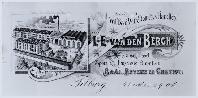 059566 - Briefhoofd. Briefhoofd van N.V. Wollenstoffenfabrieken van L.E. Van Den Bergh