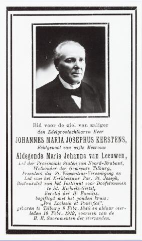 007154 - Bidprentje. Afdruk van bidprentje van Johannes Maria Josephus Kersten (1848-1913)