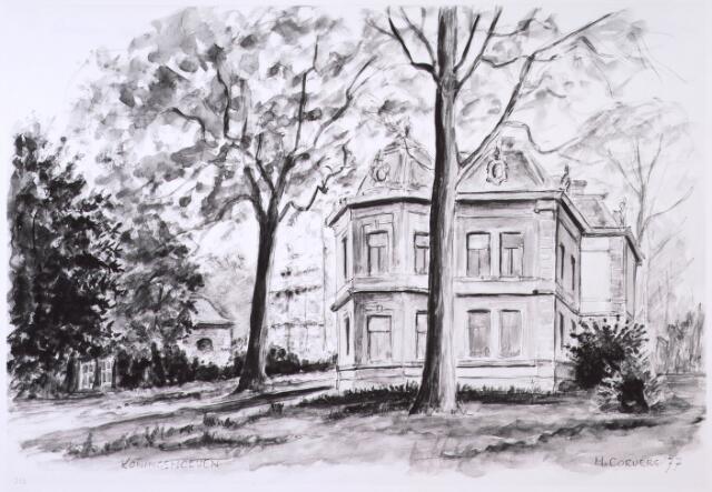 023898 - Tekening. Tekening van H. Corvers van een villa op Koningshoeven