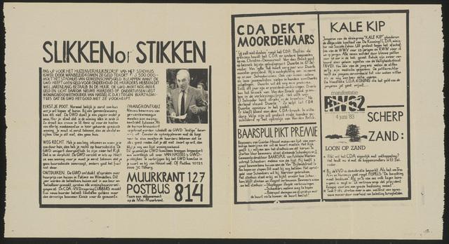 668_1983_127 - Muurkrant: Slikken op stikken