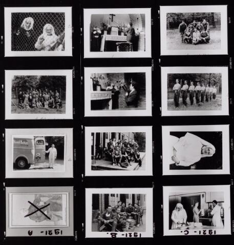 041999 - Ziekten. Pokken. Epidemieën. Impressie van de quarantaine van de Tilburgse bevolking in het Cenakel tijdens de pokkenepidemie in 1951.
