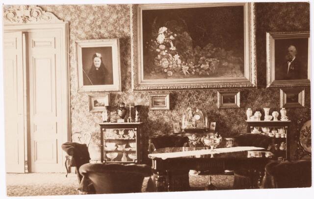 033279 detail van de huiskamer in villa tivoli een typisch laat 19e eeuws interieur