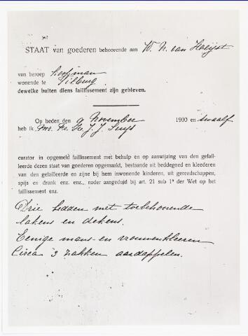 007035 - Detail van de staat van goederen m.b.t. een faillissement van W.N. van Heijst in 1912