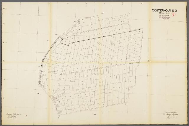 104994 - Kadasterkaart. Kadasterkaart Oosterhout. Sectie B3. Schaal 1: 2.500.