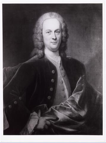 008199 - Schilderij door J.M. Quinkhard. Mr. Jan Festus van Breugel geboren 's-Hertogenbosch 3.4.1707 gestorven Den Haag 4.7.1763. Gehuwd Utrecht 21.1.1743 Eva Maria Burman.