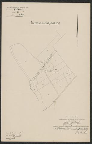 652594 - Kadaster. Hulpkaart 1867 Tilburg, Sectie E (De Blaak). Schaal 1:2500. 1867.