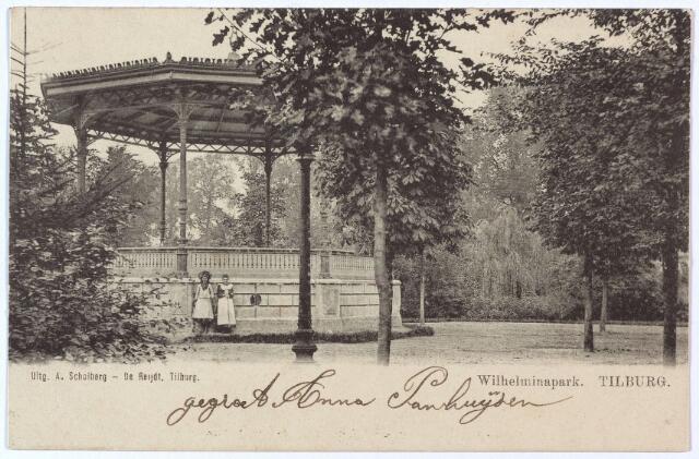 002914 - Muziekkiosk in het Wilhelminapark.