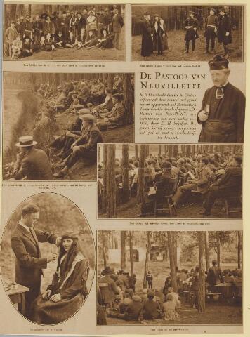 077117 - Openluchtspel op de hondsberg te oisterwijk tussen 1915 en 1922 van 'De Pastoor van Neuvillette, door D.H. Scheffer een herinnering aan de oorlog van 1870 recentie in Katholieke Illustratie..