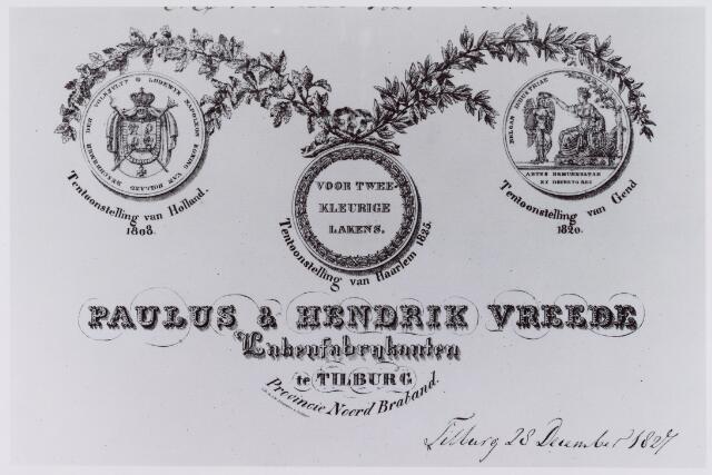 061376 - Briefhoofd. Briefhoofd van Paulus & Hendrik Vreede, Lakenfabrikanten