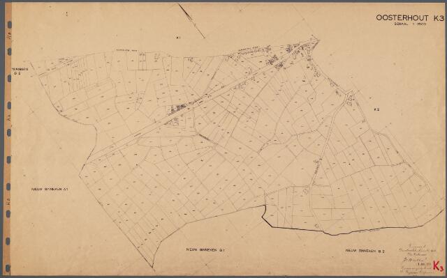104805 - Kadasterkaart. Kadasterkaart  Oosterhout Sectie K3, Schaal 1 : 2.500