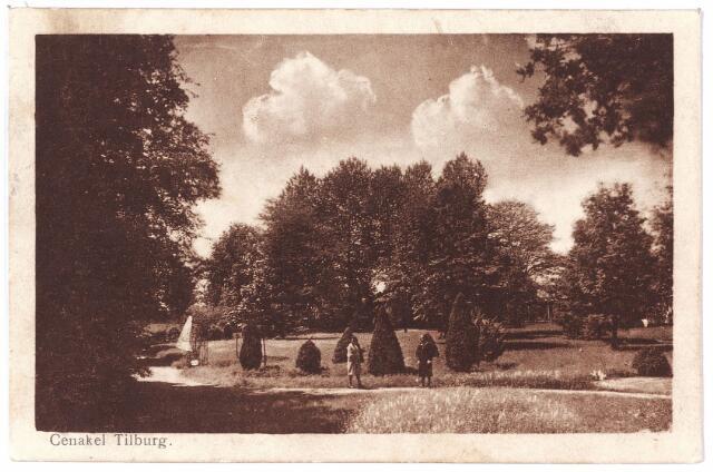 001440 - Tuin bij het retraitehuis en klooster van O.L.V. van het Cenakel aan de Koningshoeven, thans Kempenbaan.