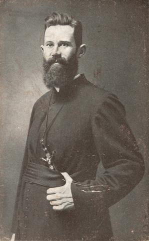 655513 - St. Joseph Missiehuis. Father Smijers bij zijn vertrek naar Nieuw Zeeland.
