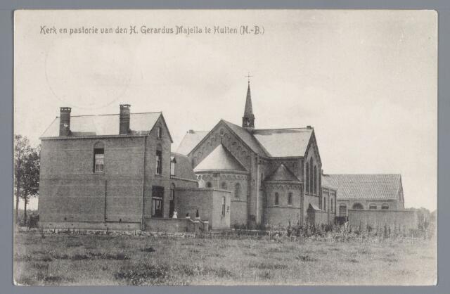057993 - Op 13 mei 1913 werd in Hulten (een samenvoeging van de woonkernen Hulten en Haansberg), gelegen ten westen van Tilburg, een nieuwe parochie gesticht. Op 4 februari 1914 werd de eenvoudige, torenloze kerk (architect J.J.H. van Groenendael uit Breda), die genoemd was naar de H. Gerardus Majella, geconsacreerd door bisschop P. Hopmans van Breda. Bij een bomaanval van de geallieerden in september 1944 werden de kerk, de pastorie, de school en diverse huizen vernield.  - Nadat de parochie vanaf 1945 enige jaren had beschikt over een noodkerk, werd in 1952 de huidige kerk (architect W. Bunnik uit Breda) in gebruik genomen. Deze kerk staat, net als haar voorgangster, aan de westelijke rand van Hulten, aan de noordzijde van de oude rijksweg van Tilburg naar Breda. Karakteristiek is de stompe toren met vier vensters in de bovenste travee die open zijn gebleven. Achterin de kerk, links van de ingang is een aan Gerardus Majella gewijde kapel.  - De basisschool tegenover de kerk draagt anno 1998 nog altijd de naam van Gerardus Majella.