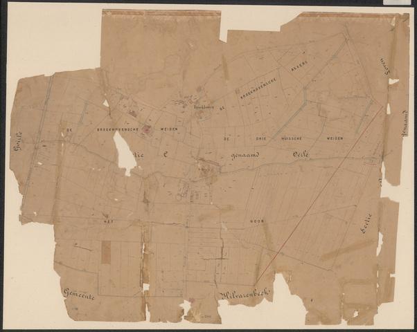 652643 - Wegenlegger. Kaart van de openbare wegen, voetpaden, straten, stegen, etc. Tilburg, Sectie C (Oerle), blad 2. Schaal 1:2500. Ongedateerd.