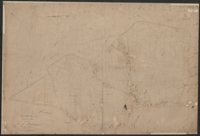 652574 - Kadasterkaart Tilburg, Sectie A (Heikant), blad 3. Schaal 1:2500. z.j.
