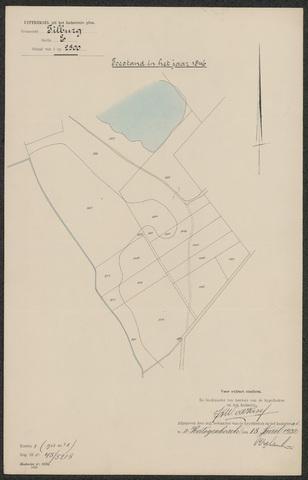 652593 - Kadaster. Hulpkaart 1846 Tilburg, Sectie E (De Blaak). Schaal 1:2500. 1846.
