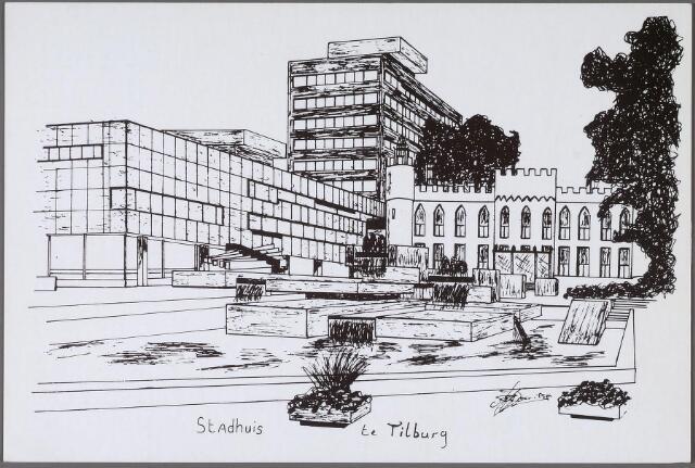 011291 - Stadhuisplein met paleis-raadhuis en stadskantoor.