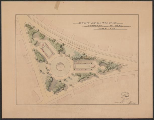 652531 - Ontwerp van Leonard Springer voor een park op het Goirke (Julianapark).