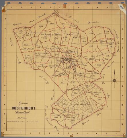 104910 - Kadasterkaart. Kadasterkaart Oosterhout. Kadastrale verzamelkaart van de gemeente Oosterhout schaal 1 : 20.000.