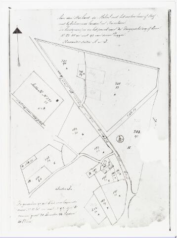007046 - Kaart. Kadasterkaart van de omgeving van de Molenhoef en omgeving.