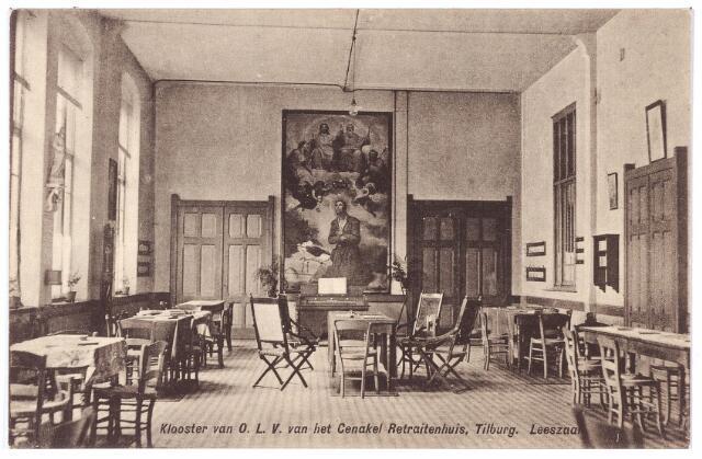 001433 - Leeszaal voor de retraitanten in het retraitehuis en klooster van O. L. V. van het Cenakel  aan de Koningshoeven, thans Kempenbaan.