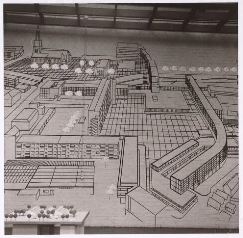 024049 - Tekening. Schetsontwerp van het Koningsplein zoals dat er na senering van de wijk Koningswei zou gaan uitzien