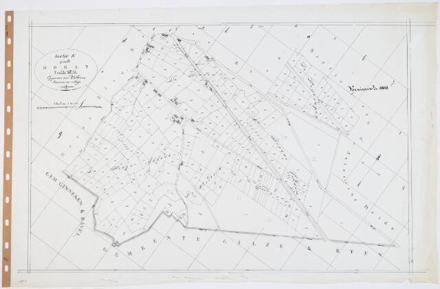 104791 - Kadasterkaart. Kadasterkaart  Oosterhout Sectie K2, Schaal 1 : 2.500, genaamd Dorst