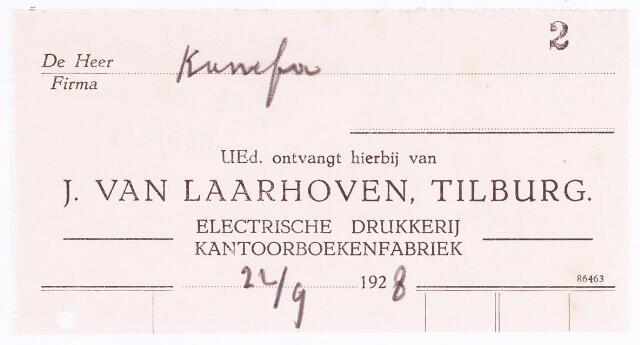 060551 - Briefhoofd. Briefhoofd van J. van Laarhoven,