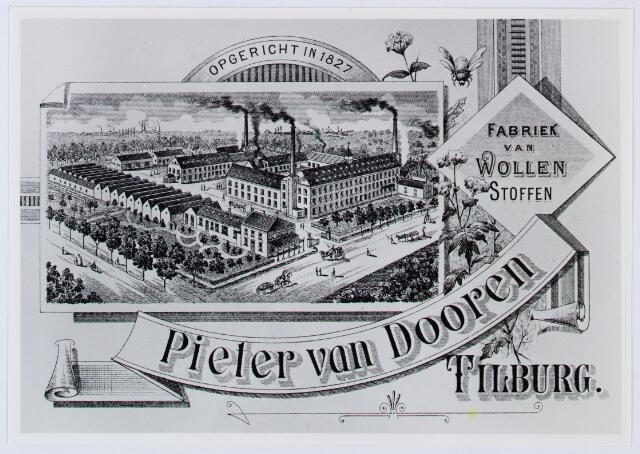 059958 - Briefhoofd. Briefhoofd van Pieter van Dooren, Spinnerij van Wollen garens voor tapijten