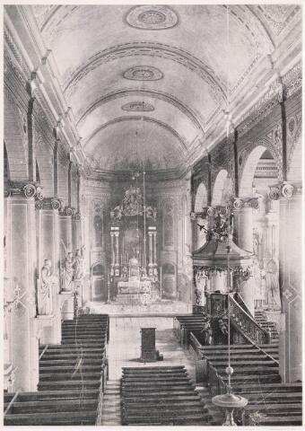 035895 - Interieur van de R.K. kerk van de H. Dionysius op het Heike, thans Stadhuisplein