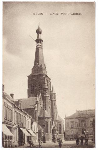 001864 - Oude Markt, voorheen de Markt met kerk van het Heike en voormalig gemeentehuis.