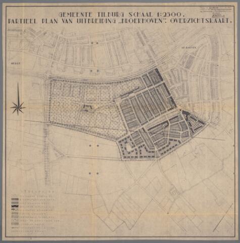 059418 - Kaart. Stadsuitbreiding. Bestemmingsplan. Broekhoven, 1954