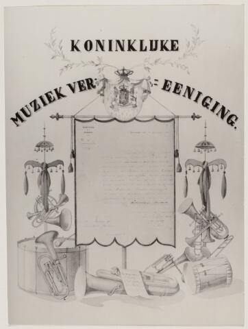 100670 - Muziek. Koninklijke Muziekvereniging Harmonie. ' Koninklijke Erkenning'