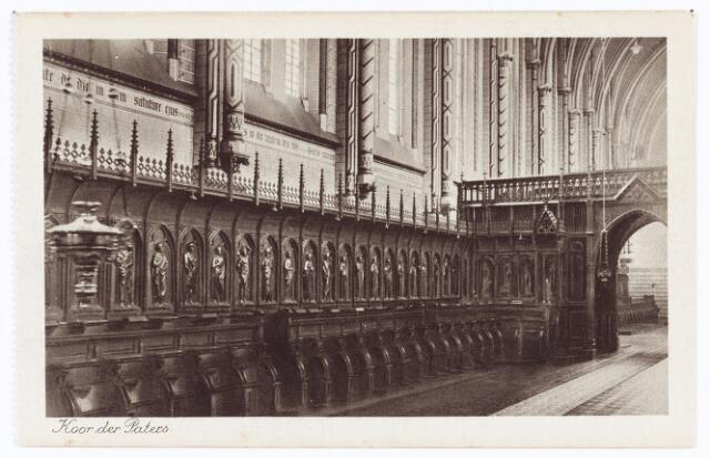 062128 - Kloosters. Interieur van de abdij van Onze Lieve Vrouw van Koningshoeven aan de Eindhovenseweg 3 (koor der paters)