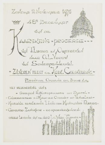 068605 - Affiche van de 48e Bedevaart van de Kaarskens Processie van Tilburg en Omstreken naar O.L. Vrouw van Scherpenheuvel.