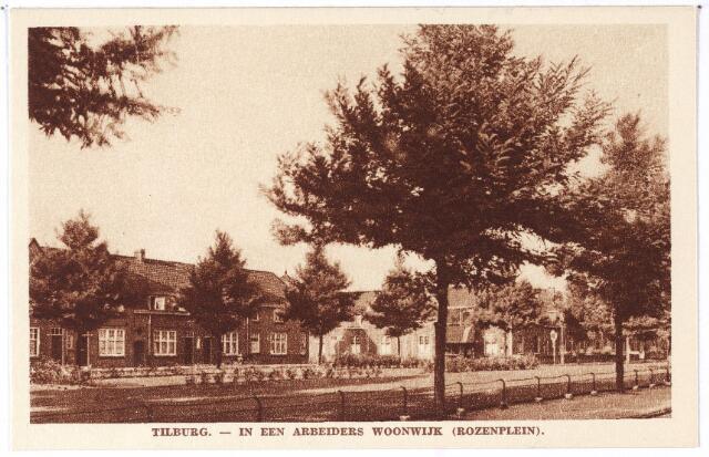 002100 - Rozenplein, 'in een arbeiders woonwijk'.