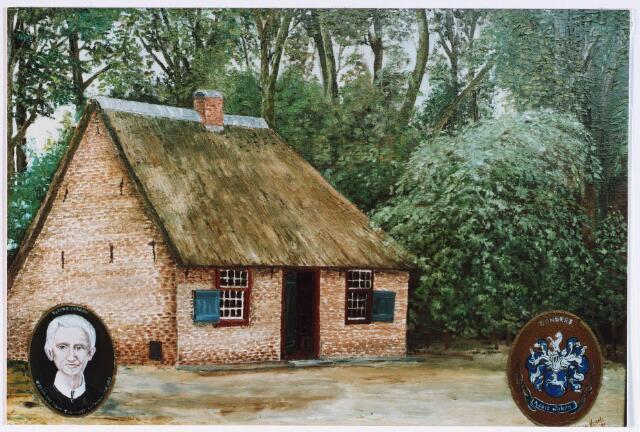 028193 - Tekening. Geboortehuis van Petrus Donders
