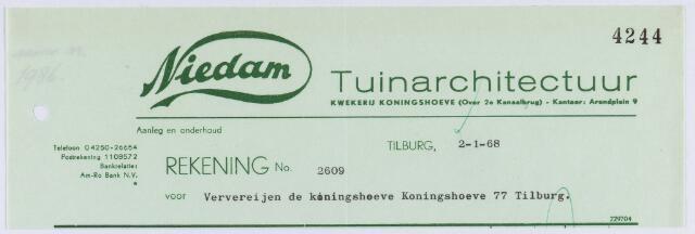 060816 - Briefhoofd. Nota van Niedam Tuinarchitectuur, Arendplein 9 voor Ververijen de Koningshoeve, Koningshoeve 77