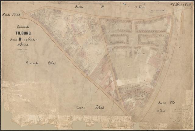 652626 - Kadasterkaart Tilburg, Sectie N (Veldhoven), blad 8. Schaal 1:1000. 1915.