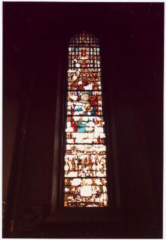 025360 - Glas-in-loodraam in de kapel van het St. Josephgasthuis aan de Lange Nieuwstraat