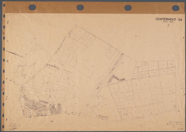 104762 - Kadasterkaart. Kadasterkaart Oosterhout Sectie G3, Schaal 1: 2.500