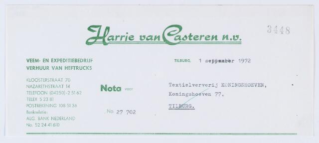 059829 - Briefhoofd. Briefhoofd  van Harrie van Casteren N.V., Kloosterstraat 70, expeditie- transport- en veembedrijf,