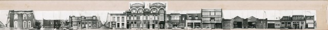 1625_0237 - Fotostrook; straatwand; panden aan de linten en hoofdverbindingswegen in het centrum van de stad; Poststraat 4-36; foto's werden tussen 1976 en 1985 gemaakt.
