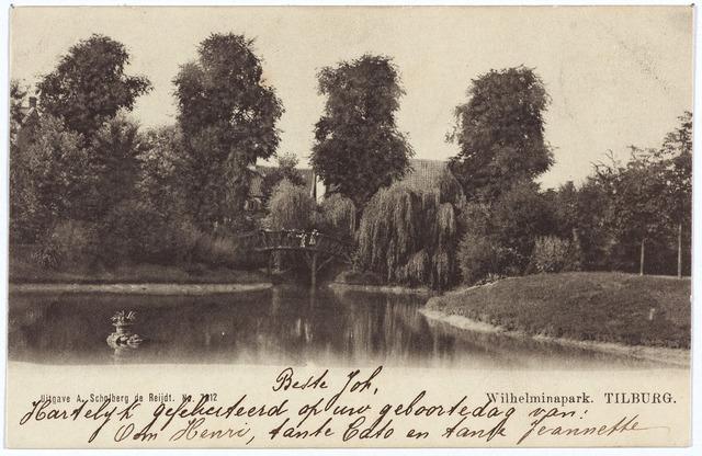 002919 - Wilhelminapark vijver en brug.