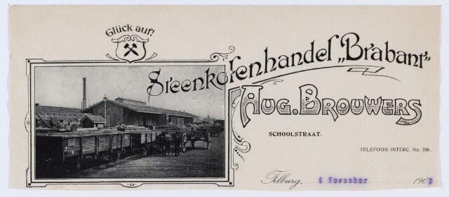 """059782 - Briefhoofd. Briefhoofd van Steenkolenhandel """"Brabant"""" Aug Brouwers, Schoolstraat"""