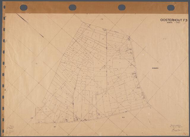 104743 - Kadasterkaart. Kadasterkaart Oosterhout. Sectie F3. Schaal 1: 2.500.