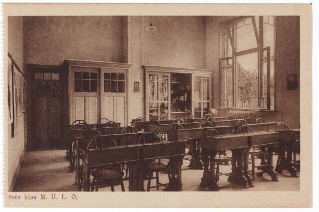 001780 - Oude Dijk, 'achtste' klas M. U. L. O.-school van de zusters van liefde.
