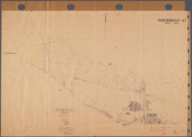 104787 - Kadasterkaart. Kadasterkaart  Oosterhout Sectie K1, Schaal 1 : 2.500